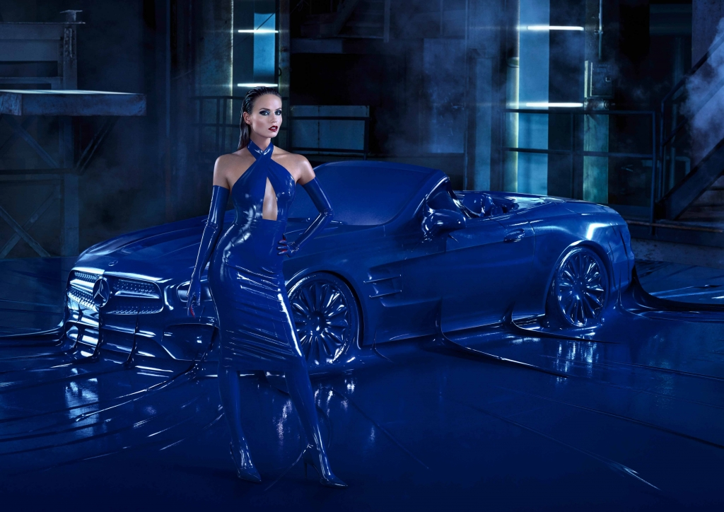 Mercedes-Benz Fashion campaign Autumn/Winter 2016 featuring Natasha Poly (model), Atsuko Kudo (designer) and Jeff Bark (photographer)