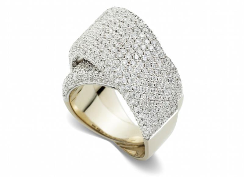 Anello Tourbillon oro bianco e diamanti