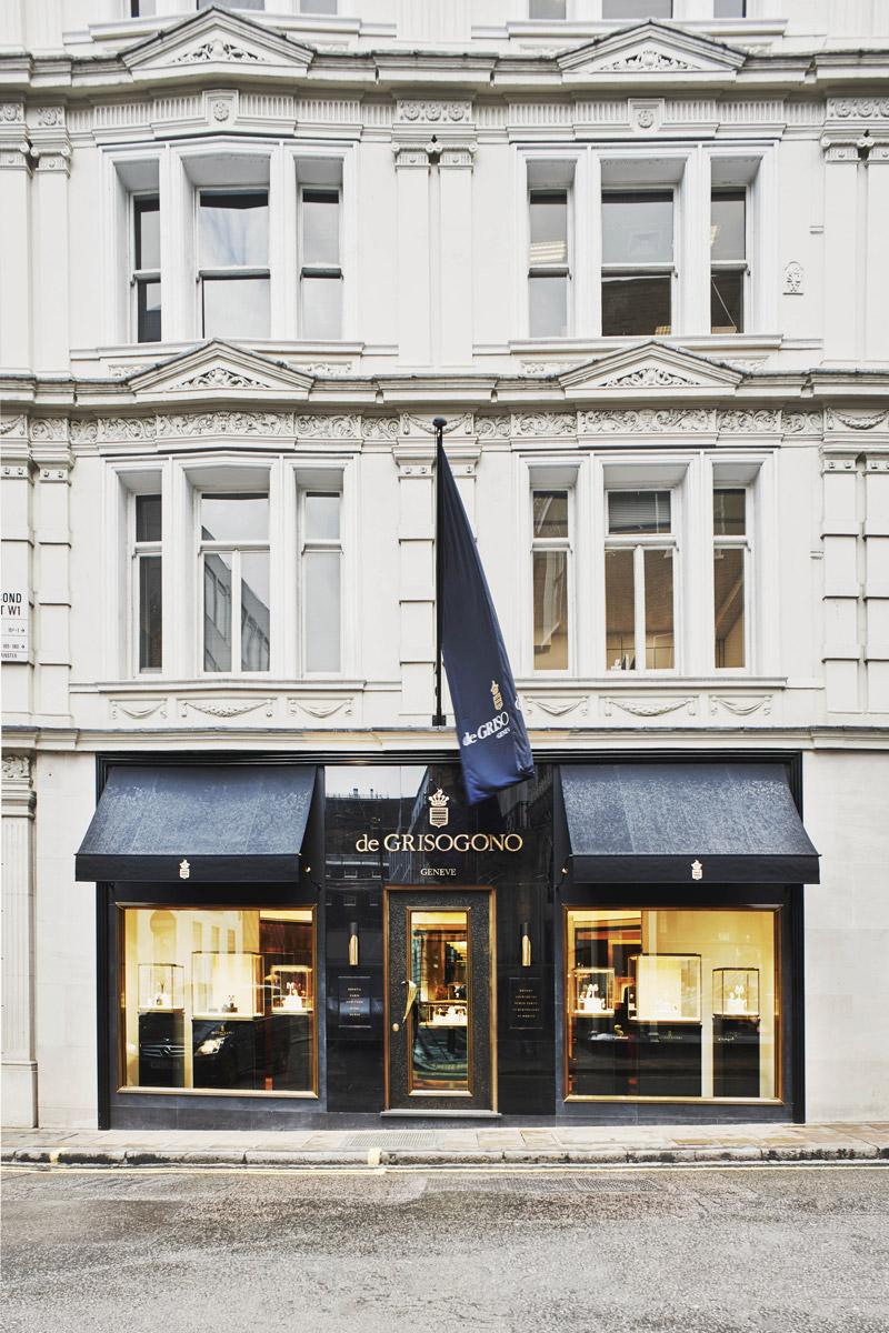 de GRISOGONO vetrina di Bond Street Londra
