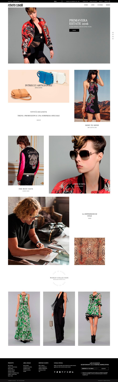 Roberto cavalli il nuovo sito ufficiale fashion times - Luxens sito ufficiale ...
