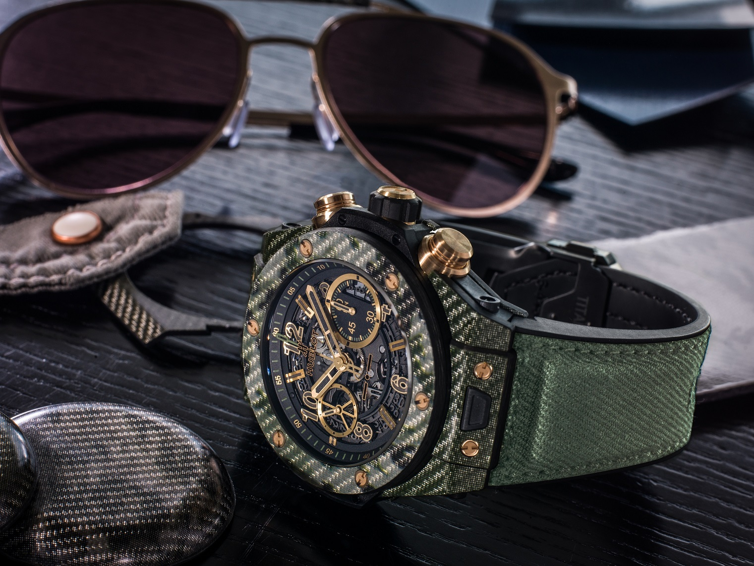 Big Bang Unico Italia Independent and Glasses - Green