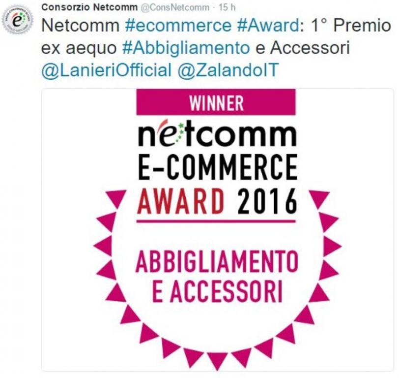 Lanieri Netcomm eCommerce Award 2016