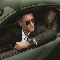 Lapo Elkann wearing the watch and the sunglasses