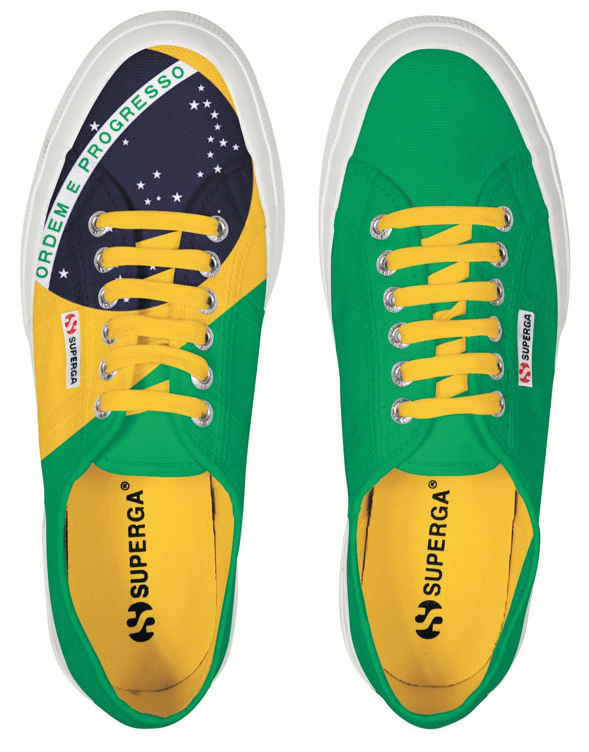 huge discount 9ff43 3b96c Superga veste la bandiera brasiliana | Fashion Times