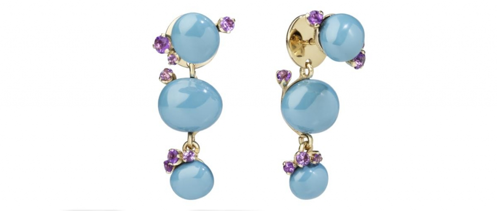 Capri Earrings by Pomellato_Turquoise Ceramic Amethyst