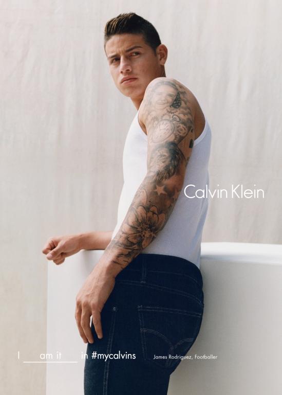 Calvin Klein fall 2016 campaign, Jamas Rodriguez, ph. Tyrone Lebon