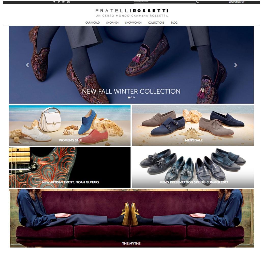 Homepage Fratelli Rossetti