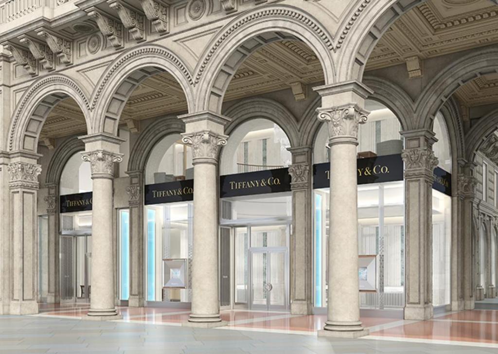 Tiffany triplica a Milano: il nuovo negozio in piazza Duomo