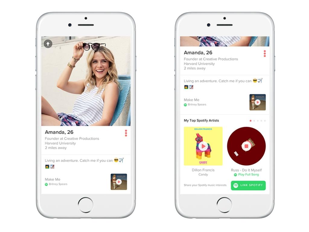 Spotify annuncia una nuova collaborazione con Tinder