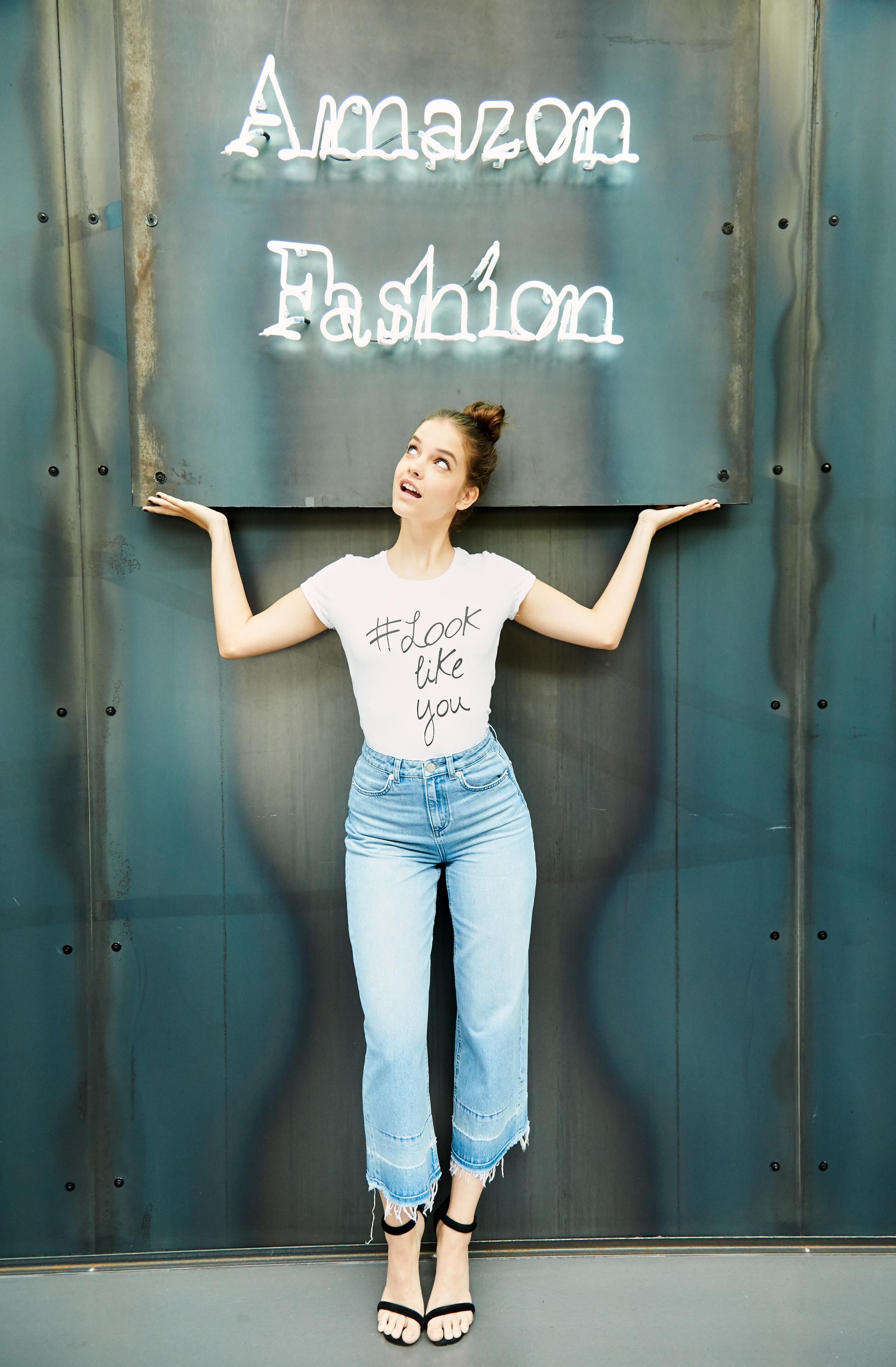 barbara palvin sul set per amazon moda � fashion times