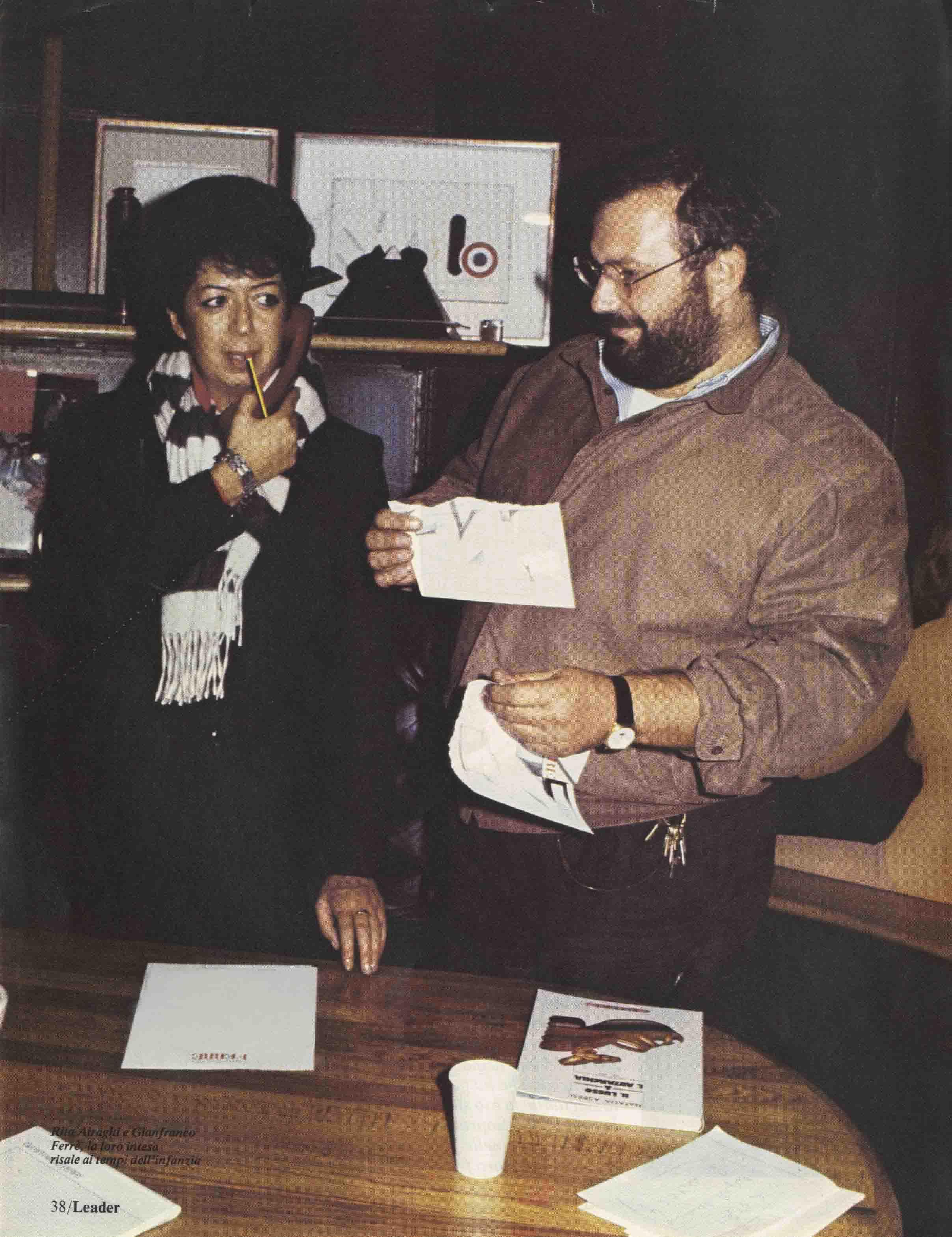 Rita Airaghi con Gianfranco Ferrè (Anno 1982)