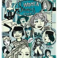 Costanza Favero 'Women, femmes , donne' tecnica matita e digitale