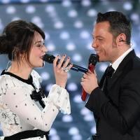Carmen Consoli (indossa gioielli Damiani) e Tiziano Ferro