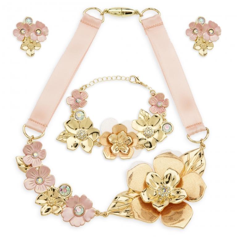 Parure di gioielli per costume floreale - 31 euro