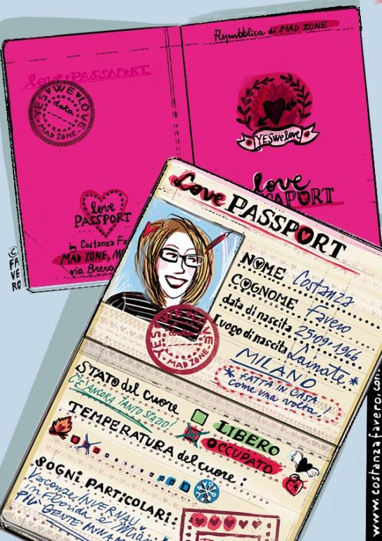 LOVE PASSPORT creato per MAD Zone by Costanza Favero