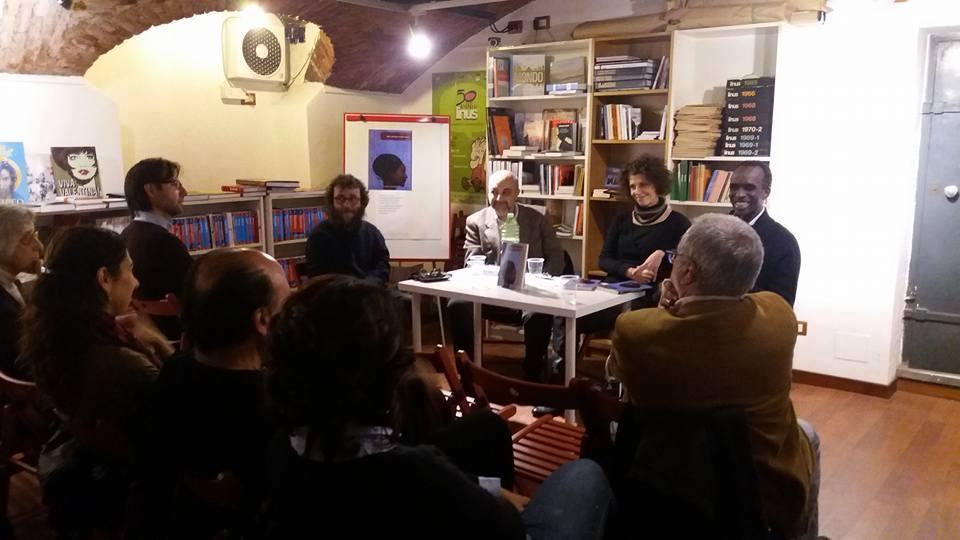 Presentazione del libro 'Non Cercare l'Uomo Capra' alla libreria Utopia di Milano con Domenico Catagnano e Pap Khouma