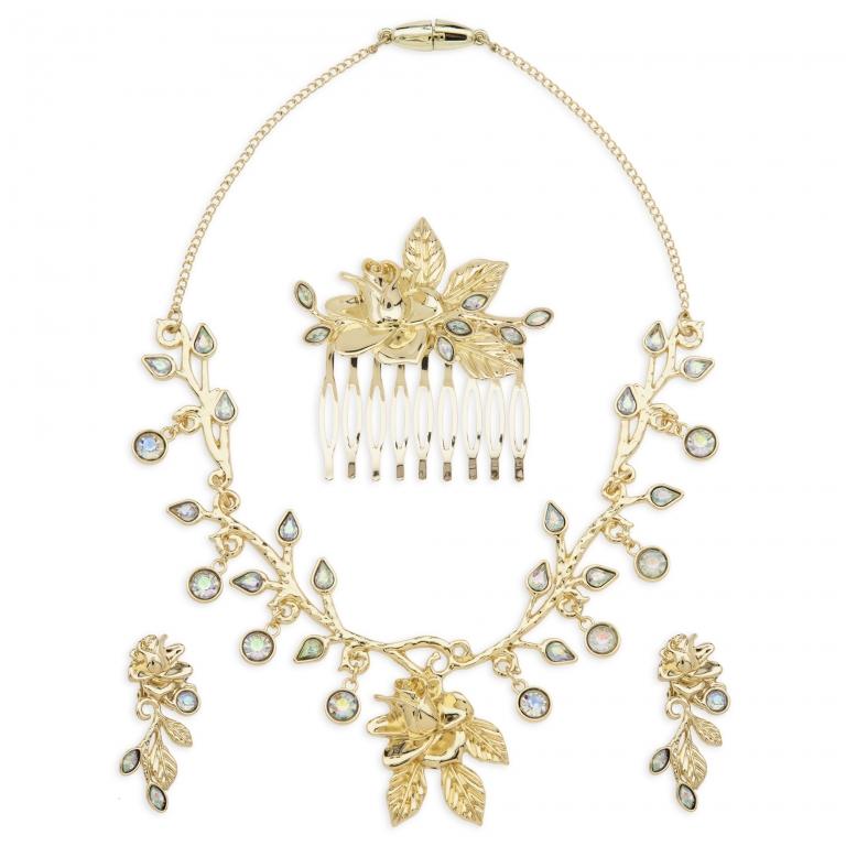 Parure di gioielli per costume dorato di Belle - 31 euro