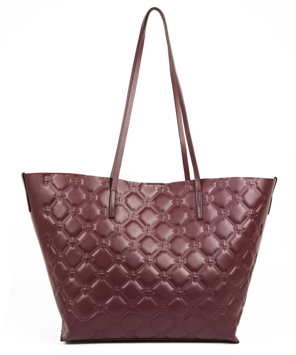 V°73 - 3x550 in pelle all-over color burgundy