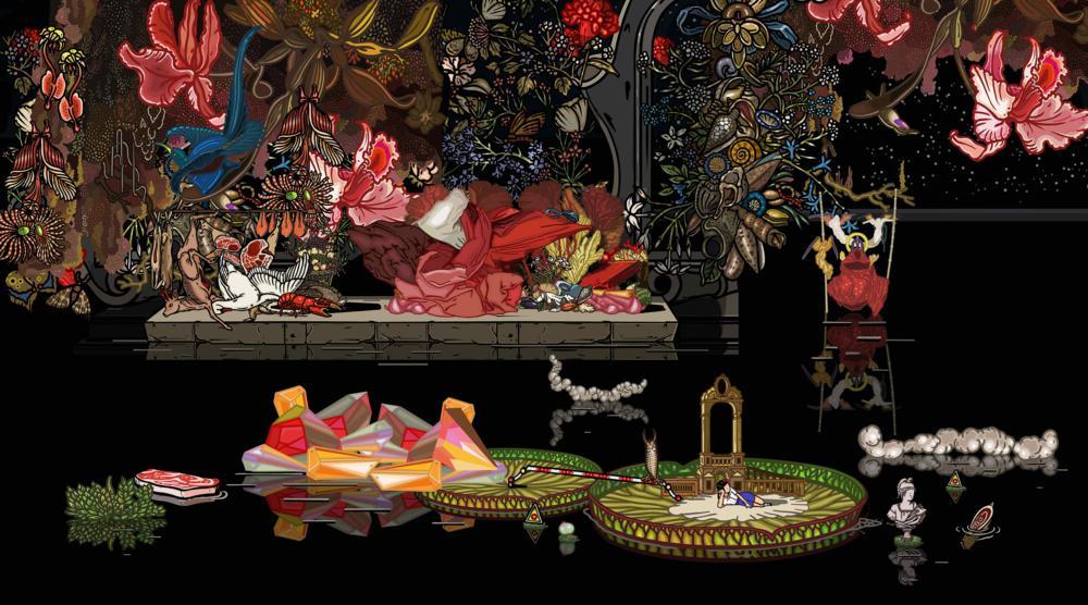 Bu Hua, A.D.3012-2, 2012, digital painting, 150cmx83cm