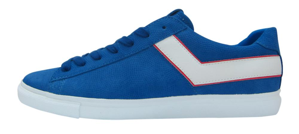 PONY SS17, TOPSTAR OX EMBOSS SUEDE blue white red