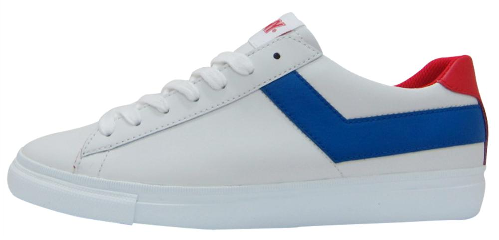 PONY SS17, TOPSTAR OX LEATHER white royal red