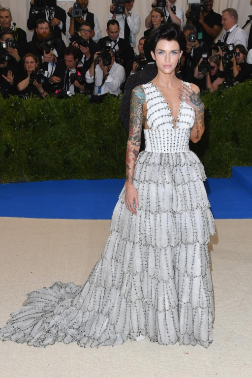 Ruby Rose in Burberry (Photo by George Pimentel/WireImage)