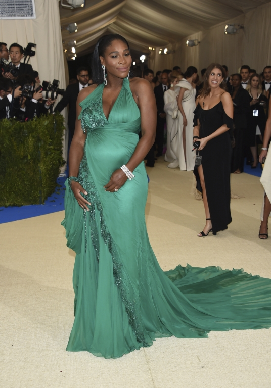 Serena Williams in Atelier Versace (Photo by Evan Agostini/Invision/AP)