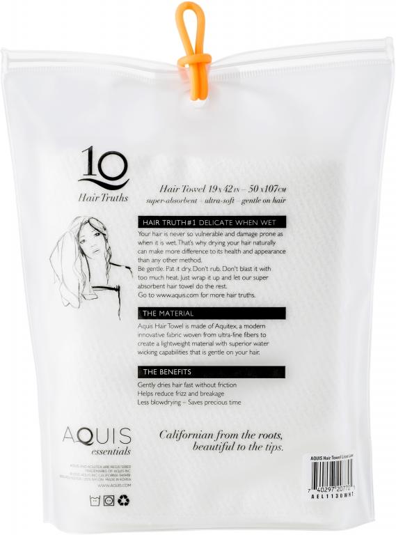 Asciugamano per capelli in microfibra - AQUIS (da Sephora)