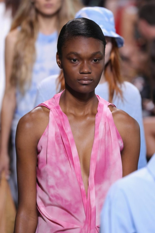 NEW YORK, NY - SEPTEMBER 13:  A model walks the runway for Michael Kors Collection Spring 2018 Runway Show at Spring Studios on September 13, 2017 in New York City.  (Photo by JP Yim/Getty Images for Michael Kors)