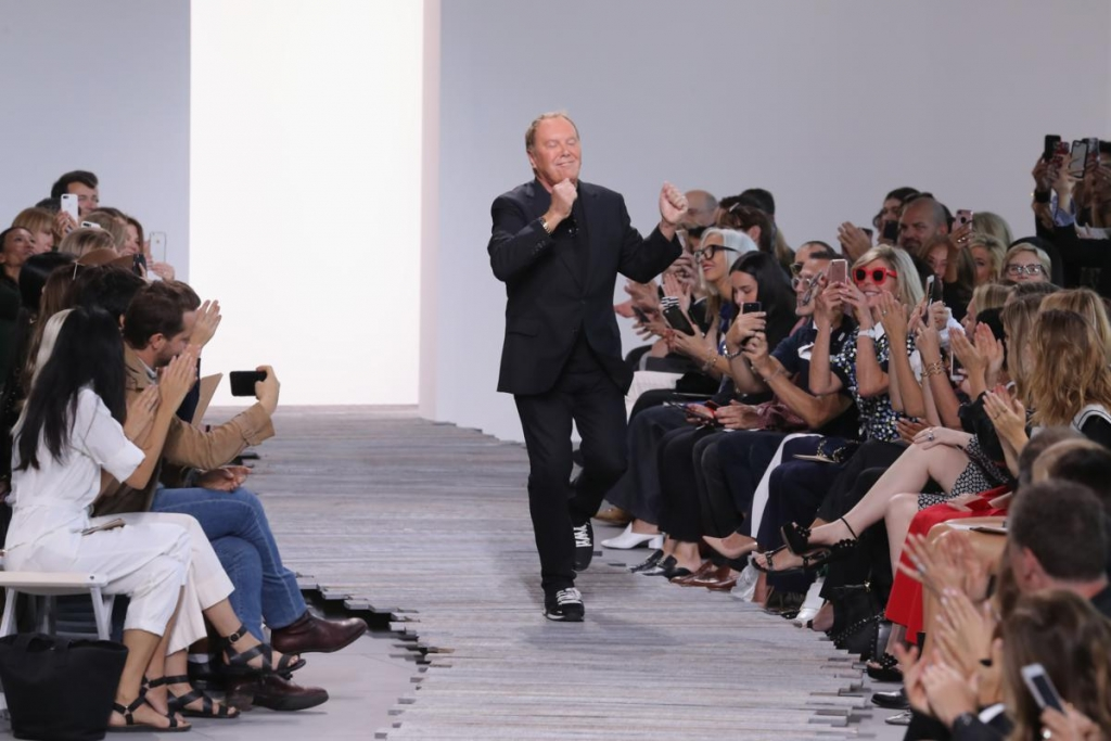 NEW YORK, NY - SEPTEMBER 13: Michael Kors walks the runway for the Michael Kors Collection Spring 2018 Runway Show at Spring Studios on September 13, 2017 in New York City.  (Photo by JP Yim/Getty Images for Michael Kors)
