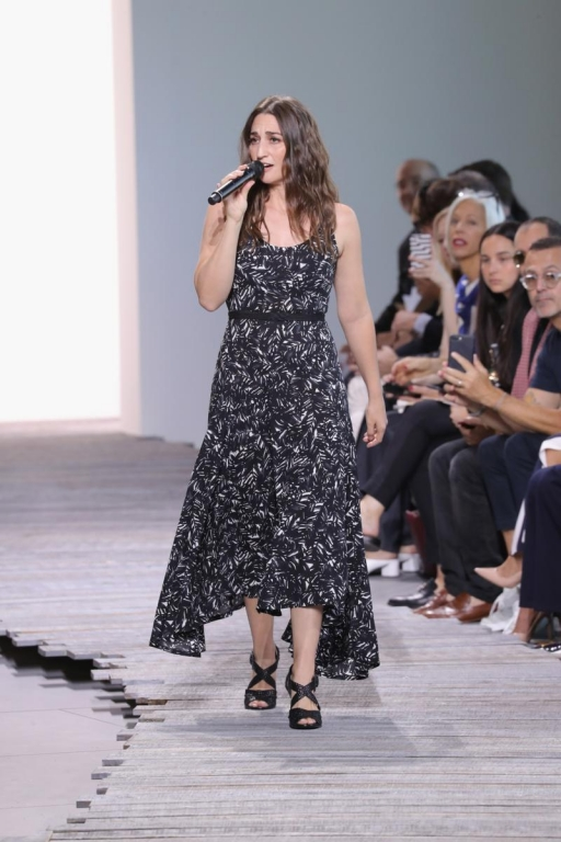 NEW YORK, NY - SEPTEMBER 13: Singer Sara Bareilles walks the runway for Michael Kors Collection Spring 2018 Runway Show at Spring Studios on September 13, 2017 in New York City.  (Photo by JP Yim/Getty Images for Michael Kors)