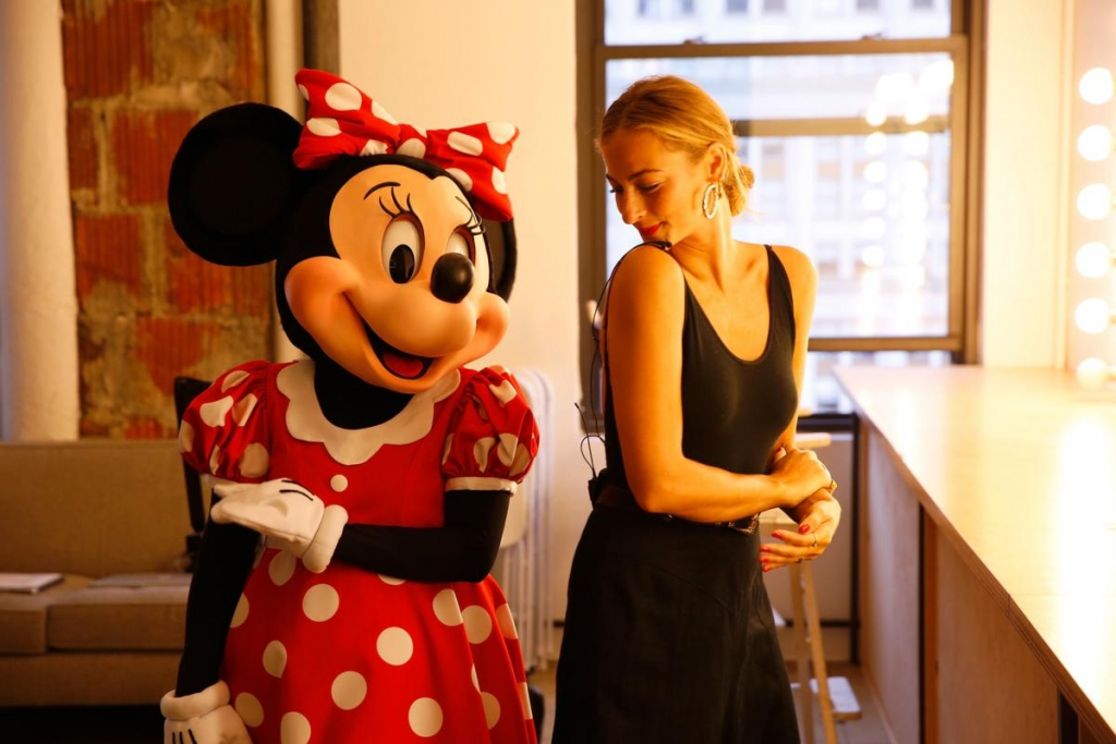 NEW YORK, NY - SEPTEMBER 06:  Minnie Mouse talking trends with fashion editor-at-large Annie Georgia Greenberg at Refinery29 on September 6, 2017 in New York City.  (Photo by Thos Robinson/Getty Images for Disney)