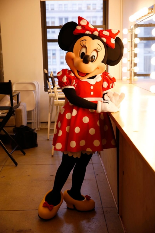 NEW YORK, NY - SEPTEMBER 06:  Minnie Mouse poses for a photo at Refinery29 on September 6, 2017 in New York City.  (Photo by Thos Robinson/Getty Images for Disney)