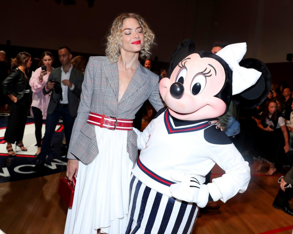NEW YORK, NY - SEPTEMBER 08:  Jaime King and Minnie Mouse, wearing custom Monse look, attend Monse SS18 NYFW show at The Eugene on September 8, 2017 in New York City.  (Photo by Anna Webber/Getty Images for Disney)