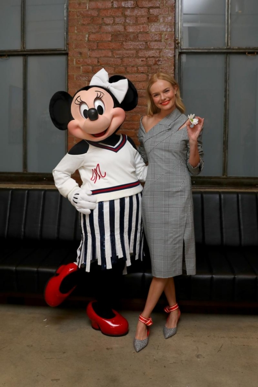 NEW YORK, NY - SEPTEMBER 08:  Minnie Mouse, wearing custom Monse look, with Kate Bosworth at Milk Studios on September 8, 2017 in New York City.  (Photo by Anna Webber/Getty Images for Disney)