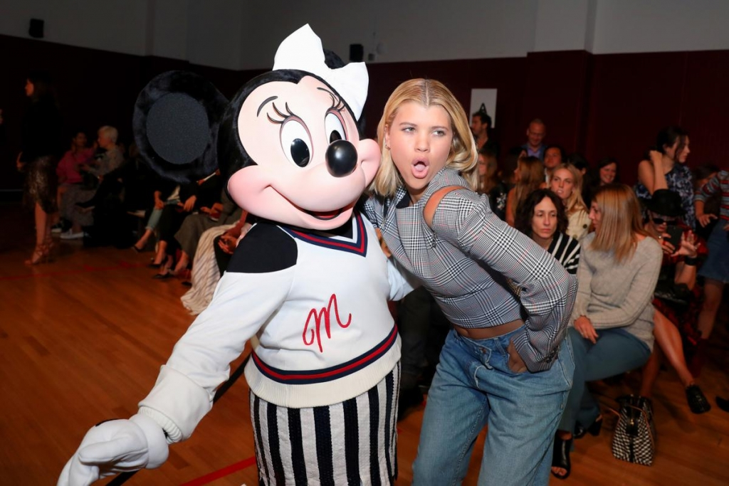 NEW YORK, NY - SEPTEMBER 08:  Minnie Mouse, wearing custom Monse look and Sofia Richie attend Monse SS18 NYFW show at The Eugene on September 8, 2017 in New York City.  (Photo by Anna Webber/Getty Images for Disney)