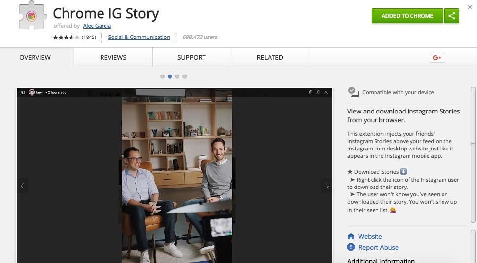 scaricare instagram stories altri utenti su pc