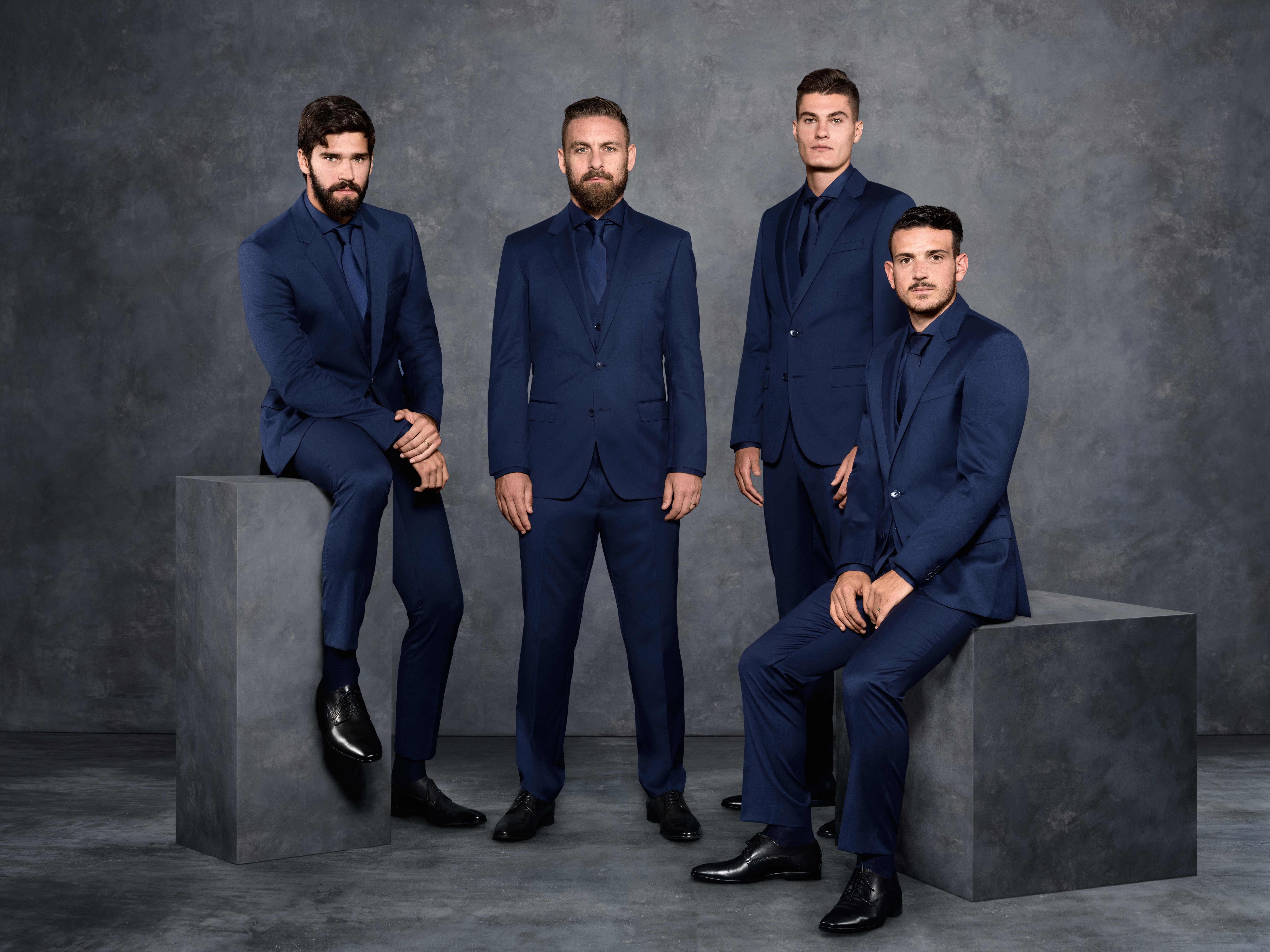 Calciatori della Roma in Hugo Boss