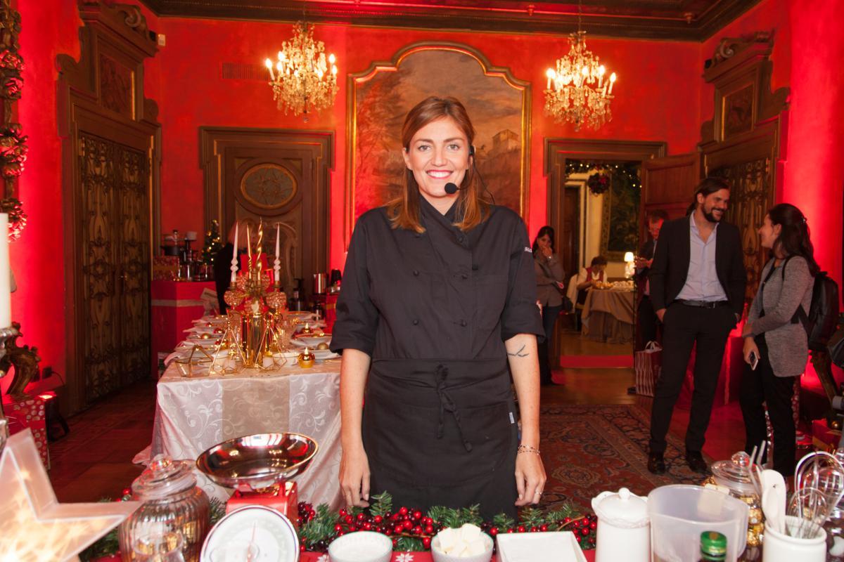 Chiara Maci durante lo show cooking di Amazon