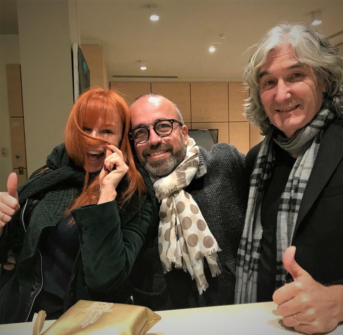 Willy Vecchiattini con Numa e Phil Palmer
