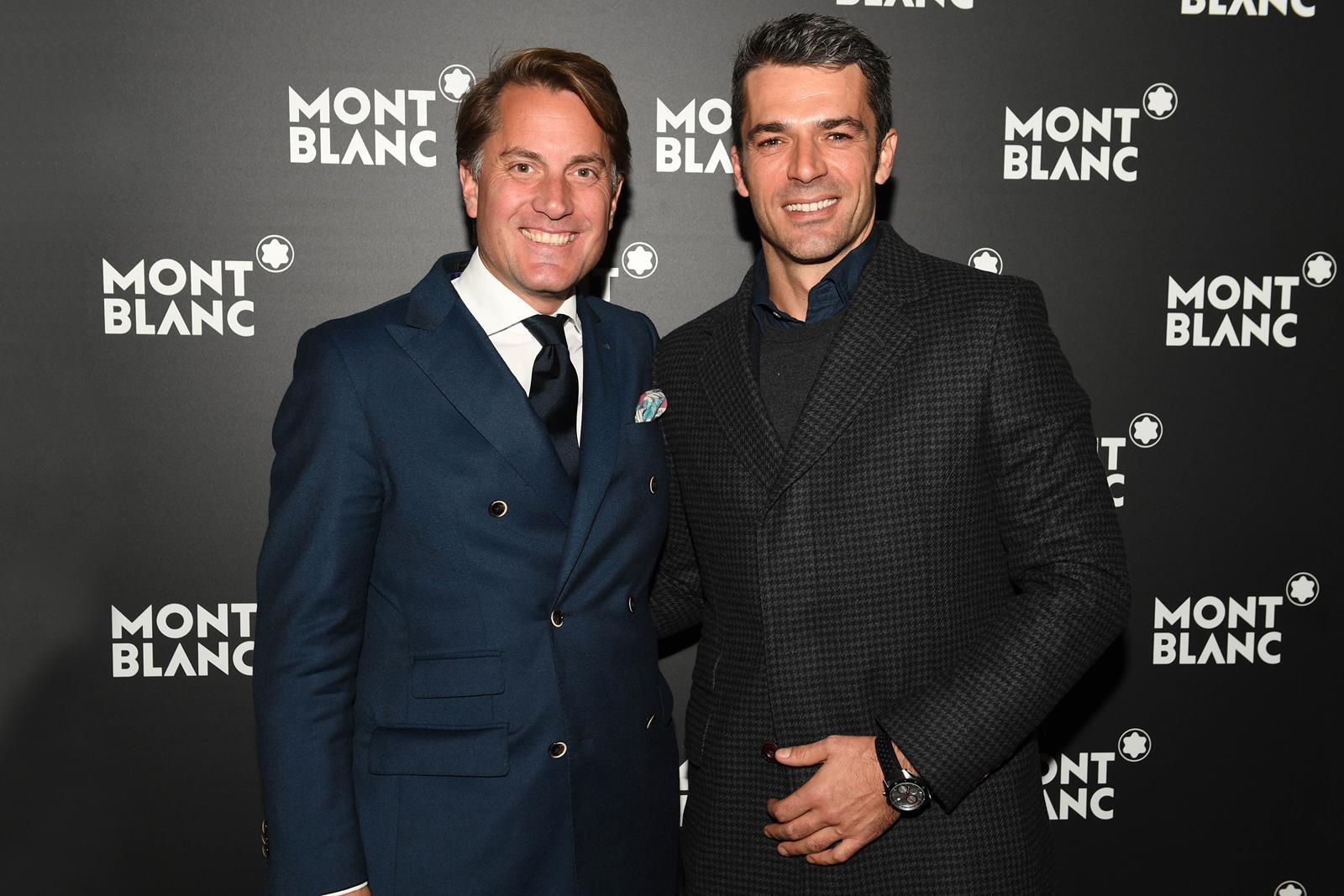 Christian Rauch e Luca Argentero all'inaugurazione della boutique Montblanc in Galleria Vittorio Emanuele