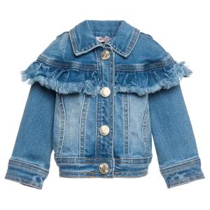 giubbotto jeans bambina Monnalisa
