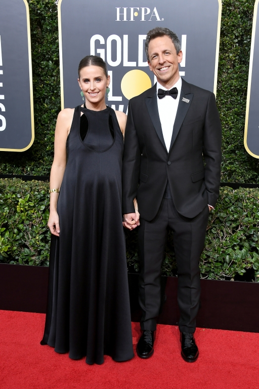 Alexi Ashe e Seth Meyers in Valentino (Photo by Steve Granitz/WireImage)