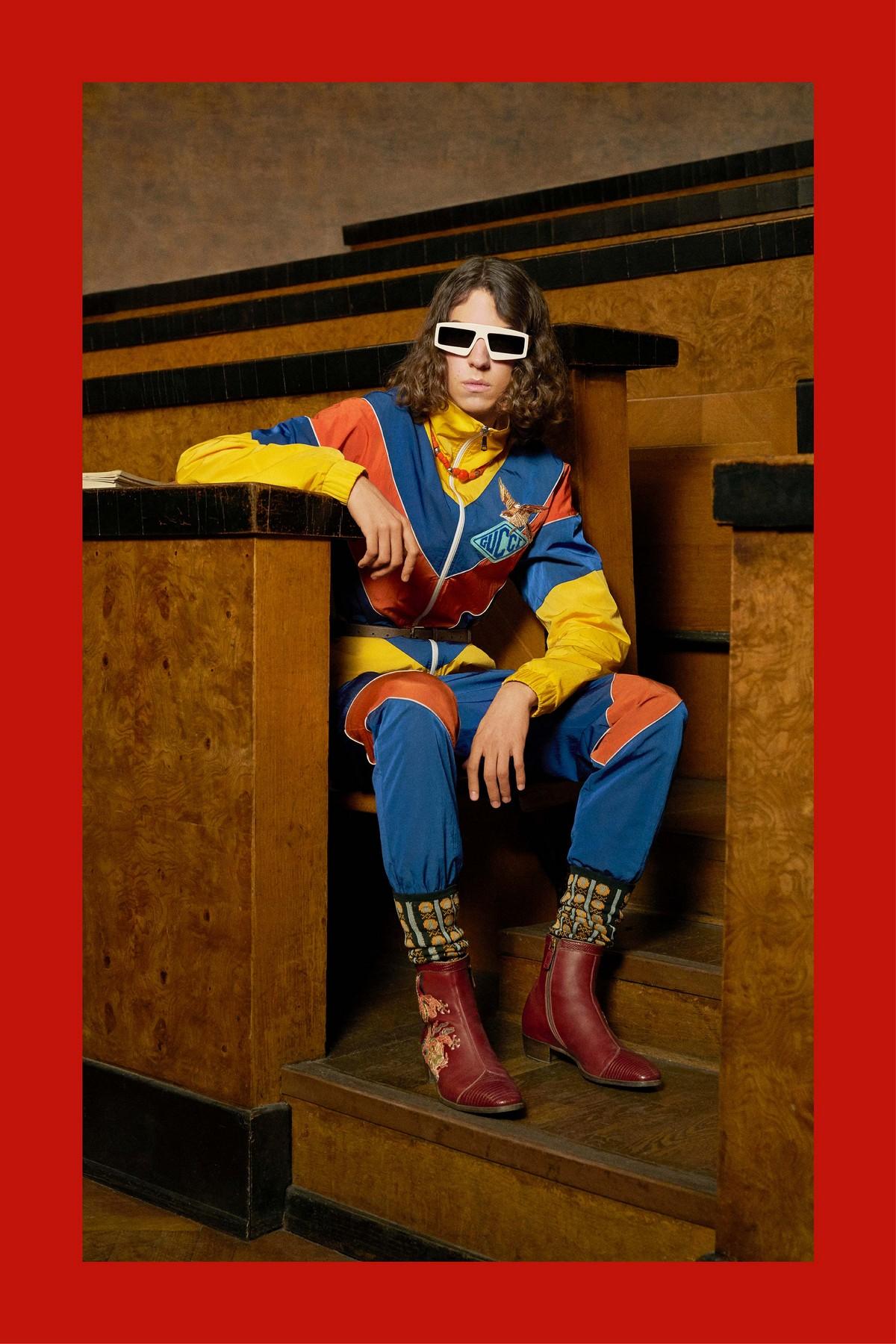 Gucci svela gli scatti della collezione uomo Prefall 2018