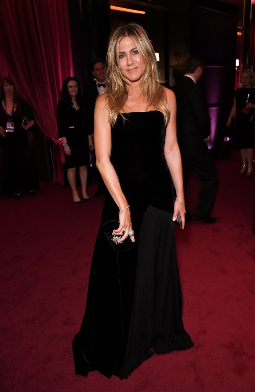 Mandatory Credit: Jennifer Aniston in Elsa Schiaparelli Haute Couture (Photo by Rob Latour/Variety/REX/Shutterstock)