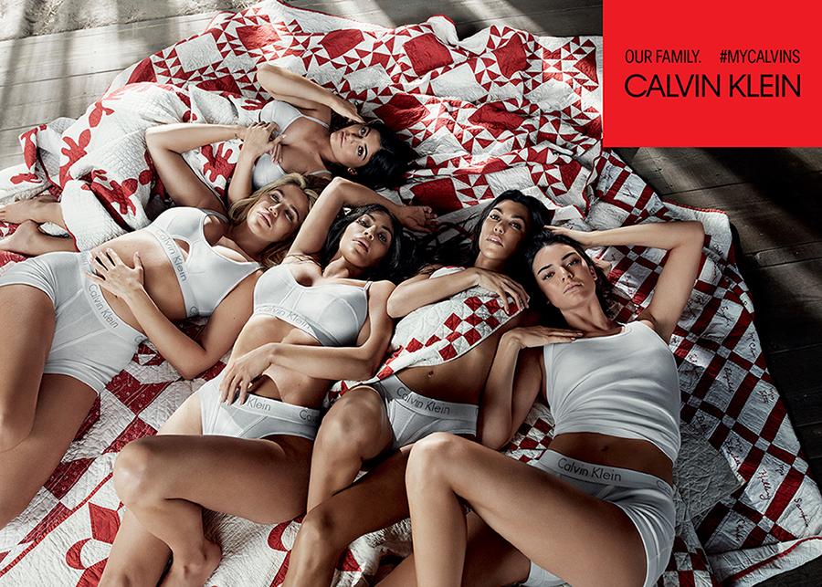 kardashian jenner per Calvin Klein underwear