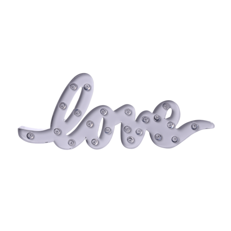 Scritta luminosa silver - Lesara