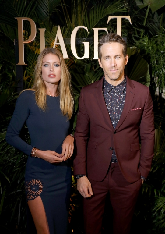 GENEVA, SWITZERLAND - JANUARY 15:  Doutzen Kroes and brand ambassador Ryan Reynolds attend the #Piaget dinner at the Country Club during the #SIHH2018 on January 15, 2018 in Geneva, Switzerland.  (Photo by Remy Steiner/Getty Images for Piaget) *** Local Caption *** Doutzen Kroes; Ryan Reynolds