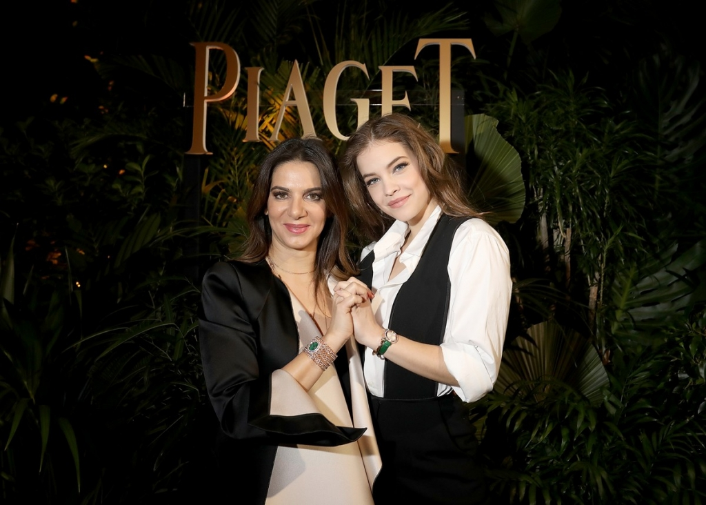GENEVA, SWITZERLAND - JANUARY 15:  Piaget CEO Chabi Nouri and Barbara Palvin attend the #Piaget dinner at the Country Club during the #SIHH2018 on January 15, 2018 in Geneva, Switzerland.  (Photo by Remy Steiner/Getty Images for Piaget) *** Local Caption *** Barbara Palvin; Chabi Nouri