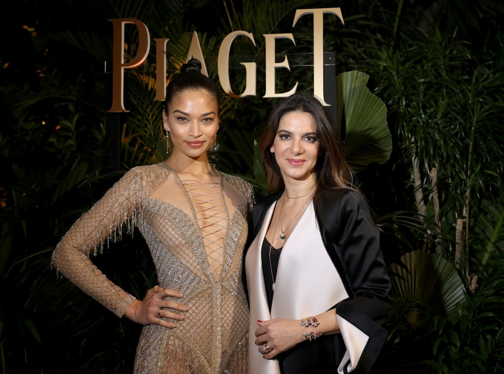 GENEVA, SWITZERLAND - JANUARY 15:  Shanina Shaik (L) and Piaget CEO Chabi Nouri attend the #Piaget dinner at the Country Club during the #SIHH2018 on January 15, 2018 in Geneva, Switzerland.  (Photo by Remy Steiner/Getty Images for Piaget) *** Local Caption *** Shanina Shaik; Chabi Nouri